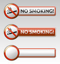 No smoking prohibition sign banner collection isolated symbol with Stock Photography