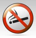No smoking prohibition sign isolated symbol Royalty Free Stock Image