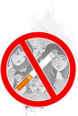 No smoking in public (vector) Stock Photo