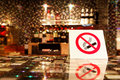 NO SMOKING sign on the bar. Royalty Free Stock Image