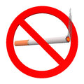 No smoking sign cigarette white background Stock Image