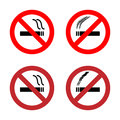 No smoking sign icons set
