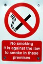 No smoking sign in these premises Royalty Free Stock Photo