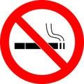 No smoking sign vector Royalty Free Stock Photo