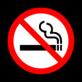 No smoking sign vector on black background Royalty Free Stock Photo