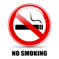No smoking sign vector illustration Royalty Free Stock Image
