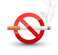 No smoking sign on white background Royalty Free Stock Images