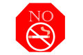 No smoking sign on white background, May 31 World No Tobacco Day