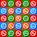 No smoking and smoking area set stickers this is file of eps format Royalty Free Stock Photos