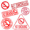 No smoking stamps rubber stamp symbol vector illustrations Stock Image
