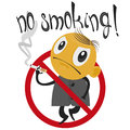 No smoking stop the smoker is placed in the sign ban Royalty Free Stock Photography