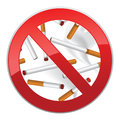 No smoking symbol inscription made of cigarettes on pure background smoke tobacco sign palce illustration Stock Photography