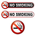 No smoking text with icon Stock Images
