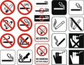 No smoking  (+ vector) Royalty Free Stock Image