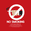 No smoking vector illustration eps Royalty Free Stock Image