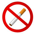 No smoking on a white background Royalty Free Stock Photo