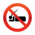 No Snoring Sign Royalty Free Stock Photos