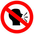 No speak sign