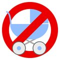 No strollers or baby carriage prohibition sign Royalty Free Stock Photo