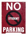 NO STUDENT PARKING sign Royalty Free Stock Photo