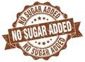No sugar added stamp