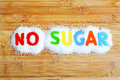 No sugar text from magnetic letters Royalty Free Stock Photo