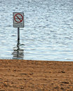 No Swimming Royalty Free Stock Photography