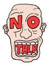 No talk advise creative design of Stock Photography