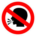 No talking sign Royalty Free Stock Photo