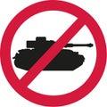 No tanks ban sign Royalty Free Stock Photo