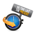 No time like the present. illustration design Stock Images