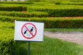 No trample sign prohibiting any on the lawn Stock Photography