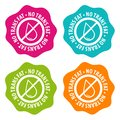 No Trans fat Badges. Eps10 Vector. Royalty Free Stock Photo