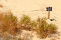 No trespass trespassing sign at the side of a desert sand expanse in nevada Stock Images