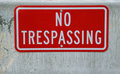 No trespassing sign Royalty Free Stock Image