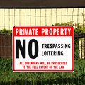 No trespassing sign in front of private property. Royalty Free Stock Photo