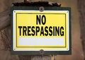 No trespassing sign for private property with space for text Royalty Free Stock Images