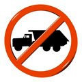 No truck Royalty Free Stock Image