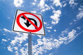 No u turn the or left sign Royalty Free Stock Image