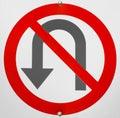 No u turn sign detail Stock Images