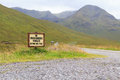 No unauthorised vehicles beyond this point sign in the scottish highlands Royalty Free Stock Images