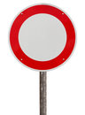No vehicles traffic sign against white background Royalty Free Stock Photo
