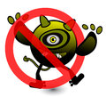 No virus cartoon illustration eps Stock Photos