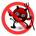 No virus cartoon illustration eps Royalty Free Stock Photography