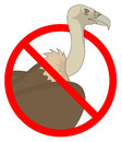 No vulture creative design of Royalty Free Stock Images