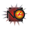 No war stylized abstract poster against violence against Royalty Free Stock Photo