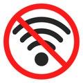 Fun no wifi icon sign