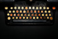 No words typewriter metaphor color close up of a keyboard having the written on it Royalty Free Stock Image