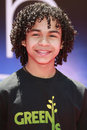 Noah gray cabey noah gray cabey at the unvieling of his new whalescape at the earth world premiere at the el capitan theatre april Stock Image