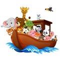 Noah`s Ark cartoon